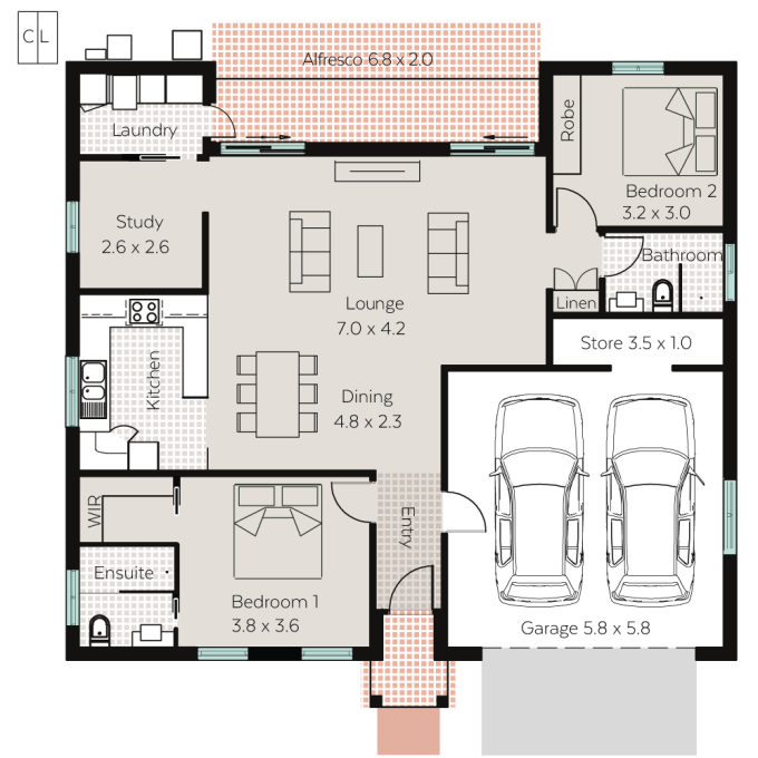 St Andrews floor plan - click to expand