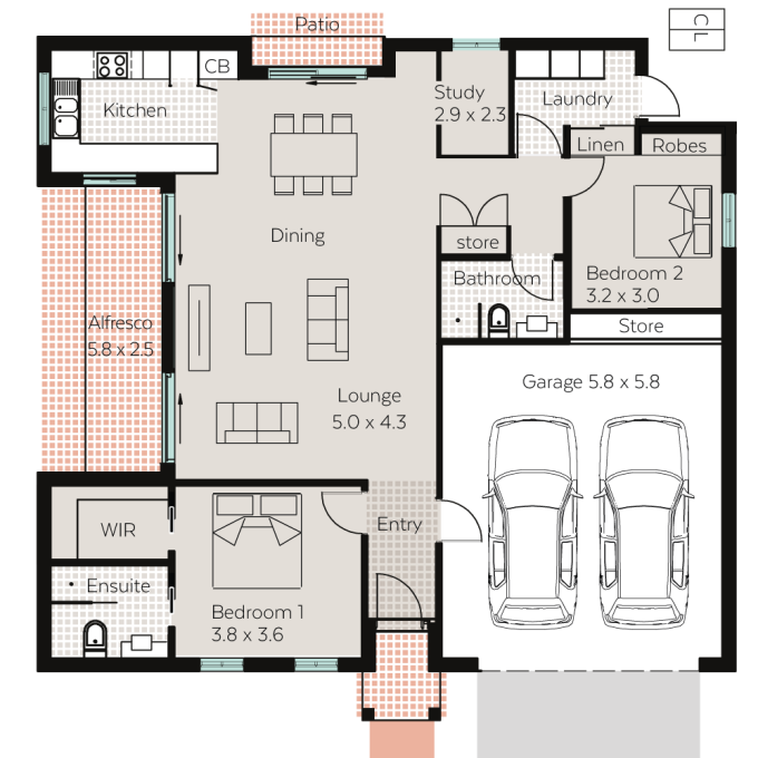 Chelsea floor plan - click to expand
