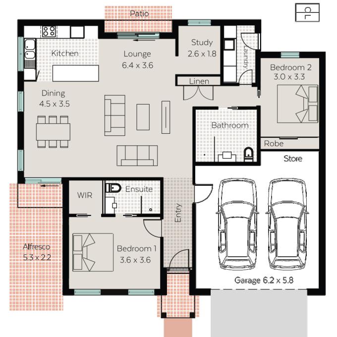 Flinders floor plan - click to expand